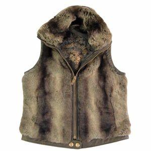 Big Chill Faux Fur & Leather Vest